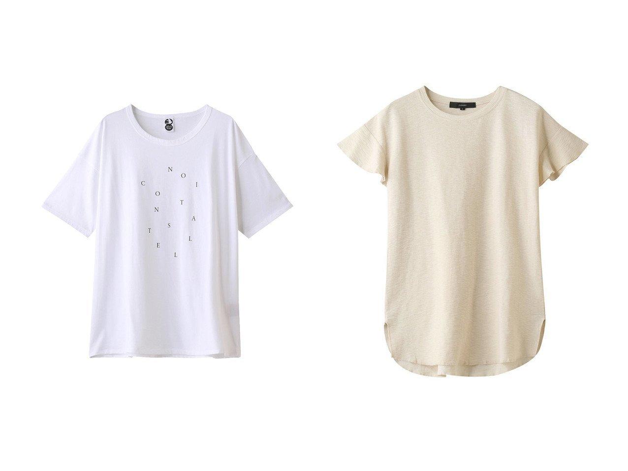 【PLAIN PEOPLE/プレインピープル】の【plainless】プリントTシャツ&【FLORENT/フローレント】のサーフニットTシャツ 【トップス・カットソー】おすすめ!人気、トレンド・レディースファッションの通販  おすすめで人気の流行・トレンド、ファッションの通販商品 メンズファッション・キッズファッション・インテリア・家具・レディースファッション・服の通販 founy(ファニー) https://founy.com/ ファッション Fashion レディースファッション WOMEN トップス・カットソー Tops/Tshirt シャツ/ブラウス Shirts/Blouses ロング / Tシャツ T-Shirts カットソー Cut and Sewn ニット Knit Tops ショート シンプル スリーブ プリント ランダム 半袖 |ID:crp329100000034085