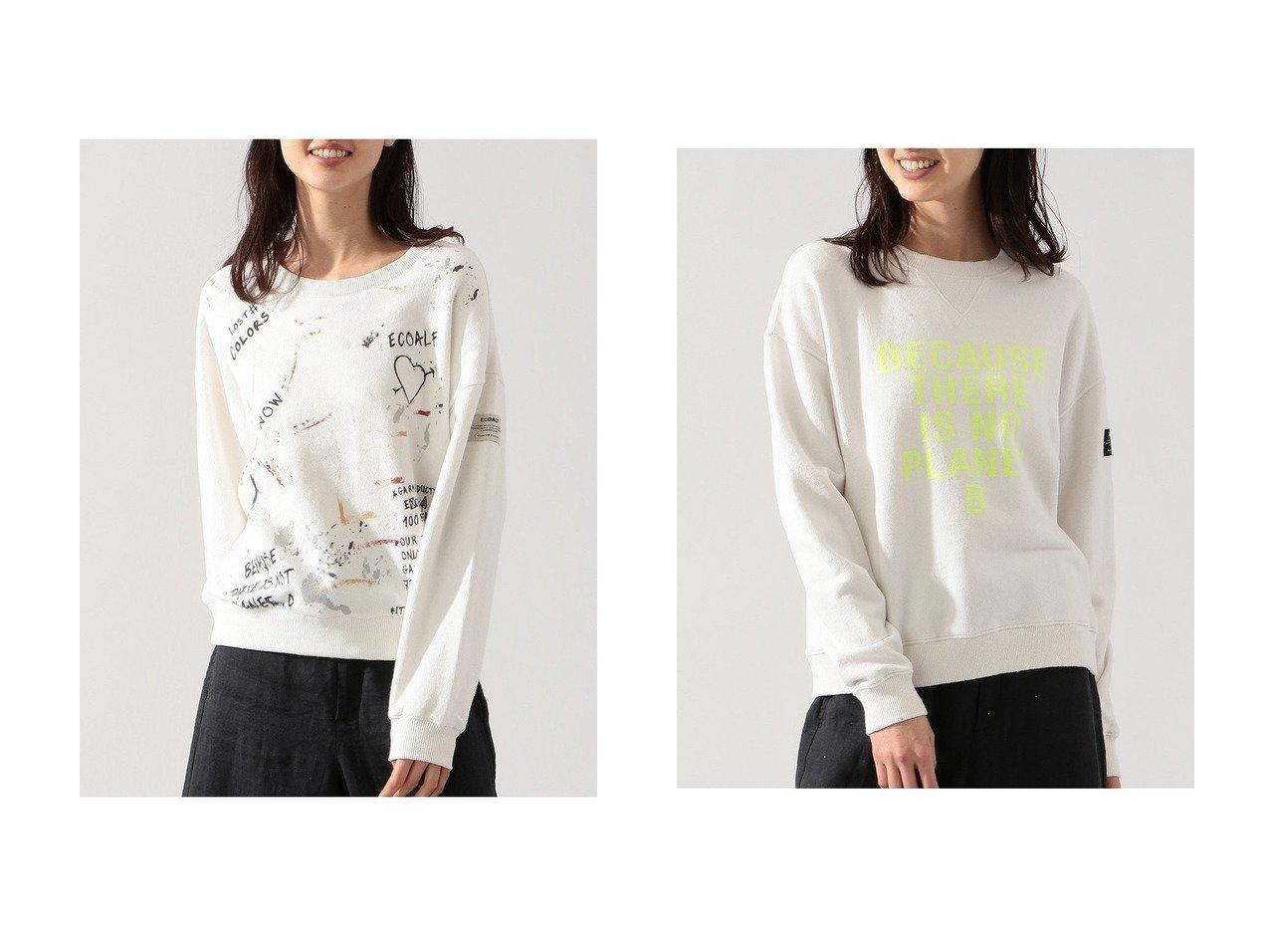 【ECOALF/エコアルフ】のLOST COLORS スウェットシャツ LOST SWEATSHIRT WOMAN&BECAUSE スウェットシャツ BECAUSE SWEATSHIRT WOMAN 【トップス・カットソー】おすすめ!人気、トレンド・レディースファッションの通販  おすすめで人気の流行・トレンド、ファッションの通販商品 メンズファッション・キッズファッション・インテリア・家具・レディースファッション・服の通販 founy(ファニー) https://founy.com/ ファッション Fashion レディースファッション WOMEN トップス・カットソー Tops/Tshirt シャツ/ブラウス Shirts/Blouses パーカ Sweats ロング / Tシャツ T-Shirts スウェット Sweat カットソー Cut and Sewn コレクション 再入荷 Restock/Back in Stock/Re Arrival |ID:crp329100000034091