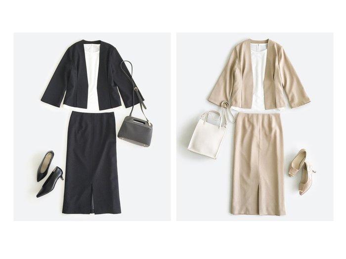 【haco/ハコ】のこれさえあればきちんとシーンも地味すぎない! 大人の華やかジャケット・スカート2点セット 【スカート】おすすめ!人気、トレンド・レディースファッションの通販 おすすめファッション通販アイテム レディースファッション・服の通販 founy(ファニー)  ファッション Fashion レディースファッション WOMEN アウター Coat Outerwear ジャケット Jackets セットアップ Setup スカート Skirt スーツ Suits スーツ ジャケット Jacket スーツ スカート Skirt スーツセット Suit Sets アクセサリー シンプル ジャケット ストッキング ストレッチ ストレート スリット スーツ セットアップ タイツ ツイル バランス フェミニン フォーマル ベーシック ペプラム 楽ちん NEW・新作・新着・新入荷 New Arrivals おすすめ Recommend |ID:crp329100000034160