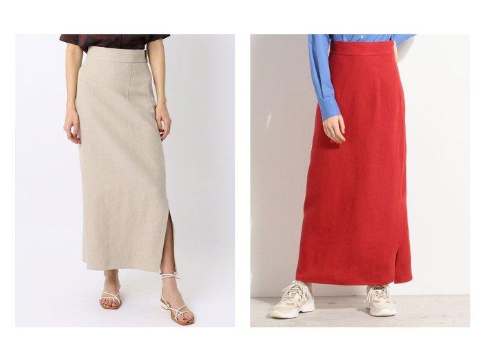 【BACCA/バッカ】のリネン ロングセミタイトスカート 【スカート】おすすめ!人気、トレンド・レディースファッションの通販 おすすめファッション通販アイテム レディースファッション・服の通販 founy(ファニー)  ファッション Fashion レディースファッション WOMEN スカート Skirt Aライン/フレアスカート Flared A-Line Skirts S/S・春夏 SS・Spring/Summer アシンメトリー スリット タンク フレア リネン ロング 人気 春 Spring  ID:crp329100000034171