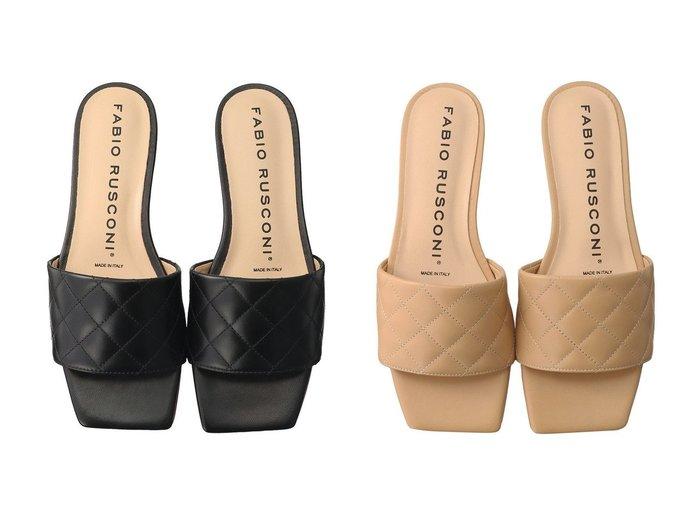 【FABIO RUSCONI/ファビオ ルスコーニ】のキルティングフラットミュール 【シューズ・靴】おすすめ!人気、トレンド・レディースファッションの通販 おすすめ人気トレンドファッション通販アイテム 人気、トレンドファッション・服の通販 founy(ファニー) ファッション Fashion レディースファッション WOMEN キルティング サンダル シンプル トレンド フラット 再入荷 Restock/Back in Stock/Re Arrival |ID:crp329100000034186