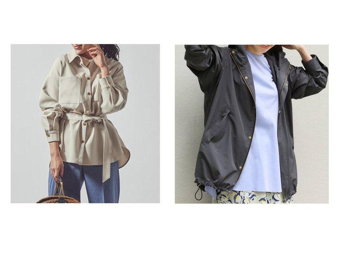 【Viaggio Blu/ビアッジョブルー】のウエストベルト付きダブルクロスCPOジャケット&【IENA/イエナ】のCタフタフーデットブルゾン 【アウター】おすすめ!人気、トレンド・レディースファッションの通販 おすすめファッション通販アイテム レディースファッション・服の通販 founy(ファニー)  ファッション Fashion レディースファッション WOMEN アウター Coat Outerwear コート Coats ジャケット Jackets テーラードジャケット Tailored Jackets ベルト Belts ブルゾン Blouson/Jackets ジャケット ダブル ボトム ショート スポーツ タフタ 定番 Standard 人気 ヨーク ロング 2021年 2021 S/S・春夏 SS・Spring/Summer 2021春夏・S/S SS/Spring/Summer/2021 |ID:crp329100000034227
