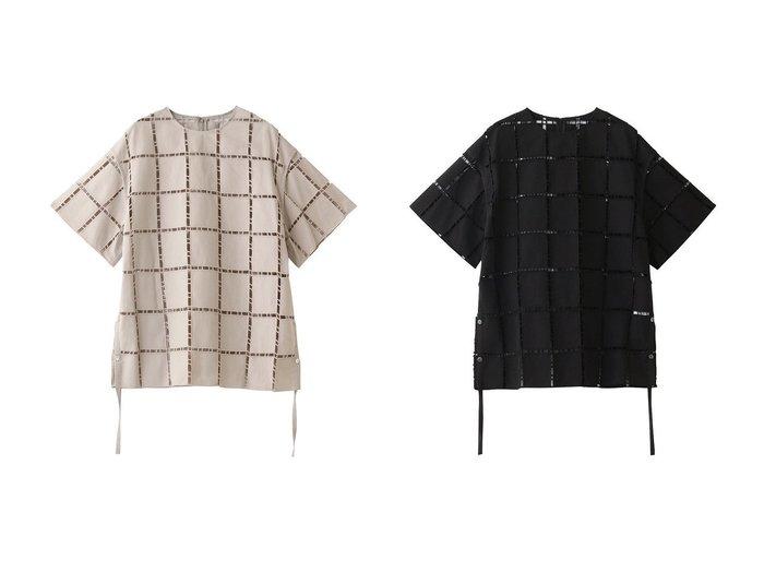 【LE CIEL BLEU/ルシェル ブルー】のスクエアレーストップス 【トップス・カットソー】おすすめ!人気、トレンド・レディースファッションの通販   おすすめファッション通販アイテム レディースファッション・服の通販 founy(ファニー)  ファッション Fashion レディースファッション WOMEN トップス・カットソー Tops/Tshirt シャツ/ブラウス Shirts/Blouses ショート スクエア スリット スリーブ バランス ビッグ レース |ID:crp329100000034568