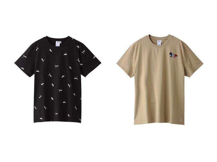 【PUMA/プーマ】の【UNISEX】【PUMA x MAISON KITSUNE】Tシャツ&【UNISEX】【PUMA x MAISON KITSUNE】Tシャツ 【トップス・カットソー】おすすめ!人気、トレンド・レディースファッションの通販   おすすめ人気トレンドファッション通販アイテム 人気、トレンドファッション・服の通販 founy(ファニー) ファッション Fashion レディースファッション WOMEN トップス・カットソー Tops/Tshirt シャツ/ブラウス Shirts/Blouses ロング / Tシャツ T-Shirts カットソー Cut and Sewn UNISEX ショート シンプル スポーティ スリーブ フロント 人気 |ID:crp329100000034578