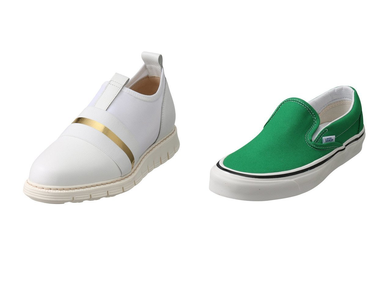【LucaGrossi/ルカグロッシ】のエラスティックスリッポン&【JET/ジェット】の【VANS】Classic Slip-On9 【シューズ・靴】おすすめ!人気、トレンド・レディースファッションの通販  おすすめで人気の流行・トレンド、ファッションの通販商品 メンズファッション・キッズファッション・インテリア・家具・レディースファッション・服の通販 founy(ファニー) https://founy.com/ ファッション Fashion レディースファッション WOMEN コンビ シューズ スリッポン デニム フラット メッシュ |ID:crp329100000034613
