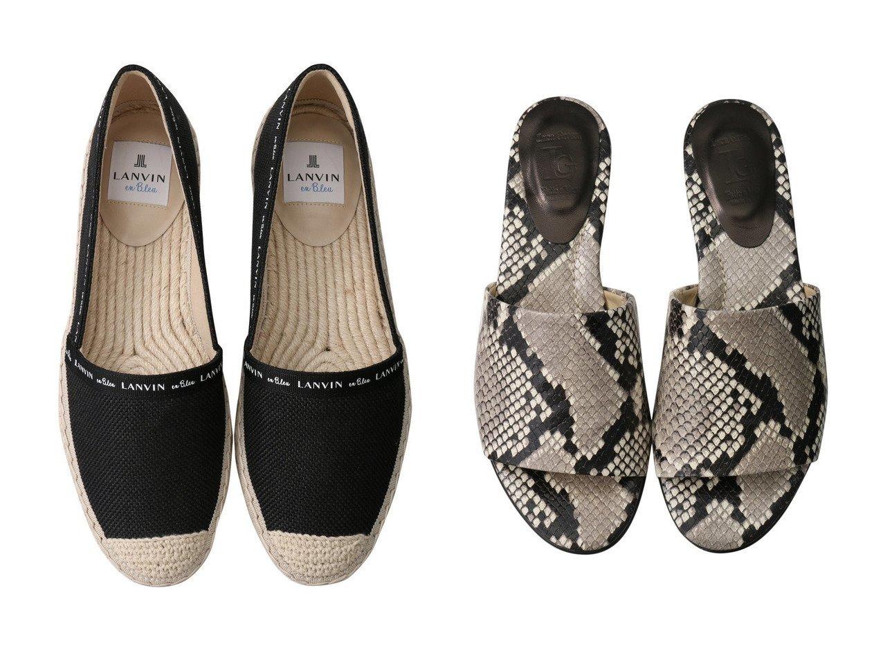 【LucaGrossi/ルカグロッシ】のパイソンフラットサンダル&【LANVIN en Bleu/ランバン オン ブルー】のエスパドリーユ 【シューズ・靴】おすすめ!人気、トレンド・レディースファッションの通販  おすすめで人気の流行・トレンド、ファッションの通販商品 メンズファッション・キッズファッション・インテリア・家具・レディースファッション・服の通販 founy(ファニー) https://founy.com/ ファッション Fashion レディースファッション WOMEN サンダル パイソン 人気 S/S・春夏 SS・Spring/Summer シューズ フラット 春 Spring |ID:crp329100000034617
