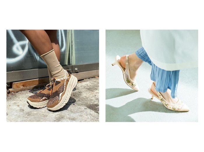 【UGG Australia/アグ】のUGG CA805 Zip Wild Thang&【Jelly Beans/ジェリービーンズ】のフラワー刺繍バックストラップパンプス 【シューズ・靴】おすすめ!人気、トレンド・レディースファッションの通販  おすすめ人気トレンドファッション通販アイテム 人気、トレンドファッション・服の通販 founy(ファニー)  ファッション Fashion レディースファッション WOMEN バッグ Bag S/S・春夏 SS・Spring/Summer シューズ チュール トレンド フィット フラワー ロマンティック 春 Spring スニーカー スリッポン |ID:crp329100000034628