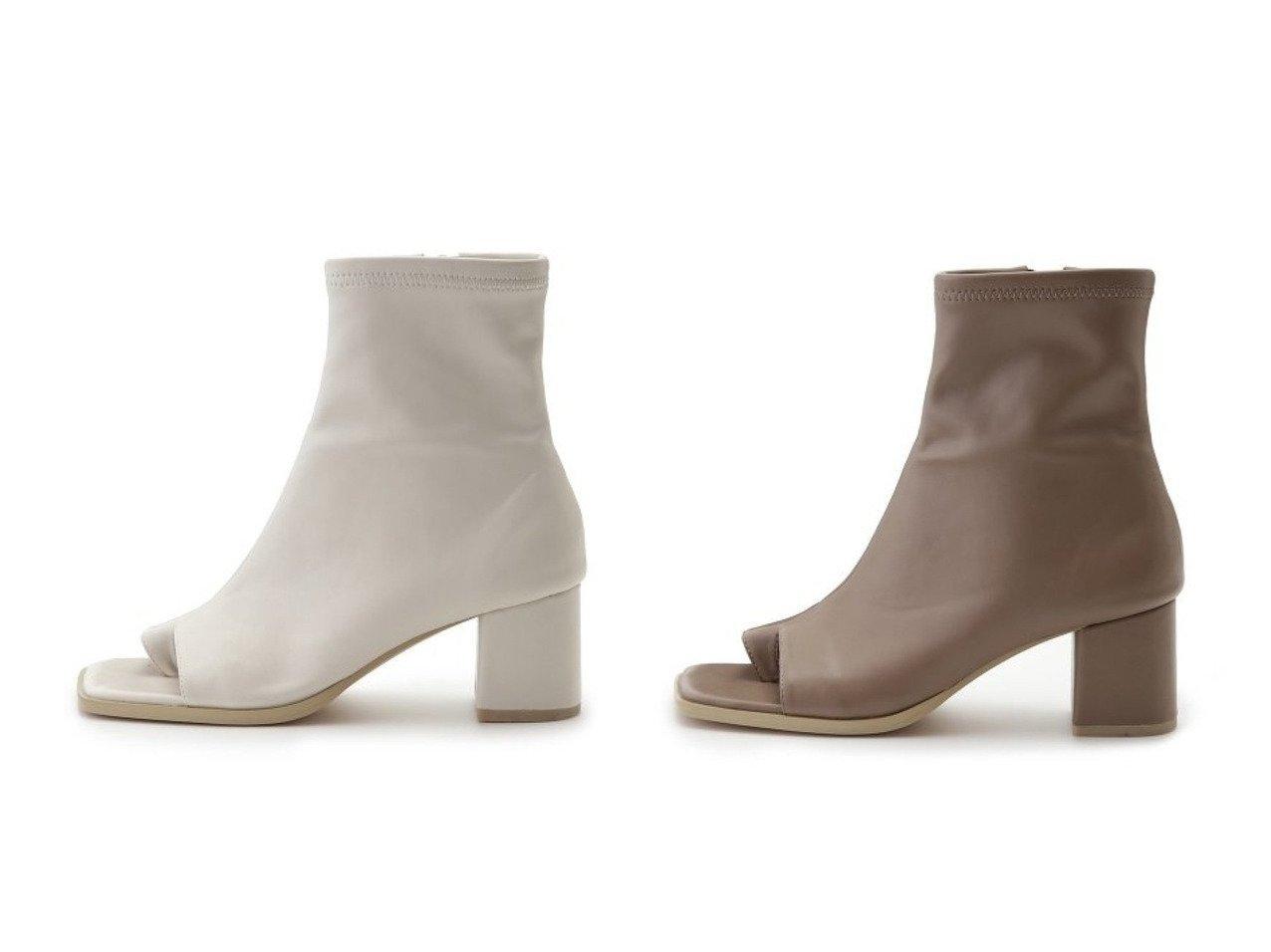 【FRAY I.D/フレイ アイディー】のオープントングブーツ 【シューズ・靴】おすすめ!人気、トレンド・レディースファッションの通販  おすすめで人気の流行・トレンド、ファッションの通販商品 メンズファッション・キッズファッション・インテリア・家具・レディースファッション・服の通販 founy(ファニー) https://founy.com/ ファッション Fashion レディースファッション WOMEN サンダル ジップ ストレッチ バランス |ID:crp329100000034634