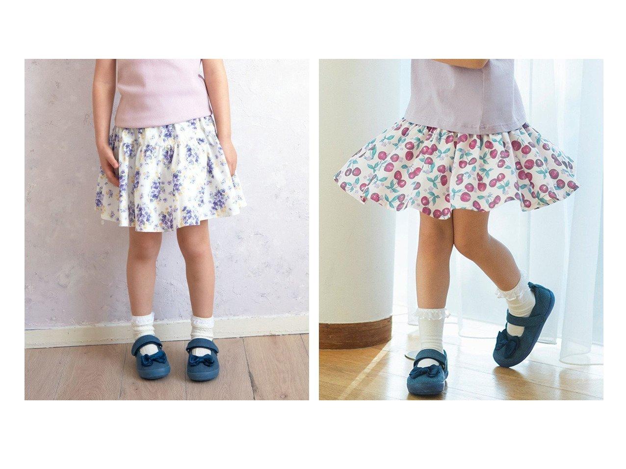 【anyFAM / KIDS/エニファム】の花柄/フルーツ柄 総柄スカパン 【KIDS】子供服のおすすめ!人気トレンド・キッズファッションの通販  おすすめで人気の流行・トレンド、ファッションの通販商品 メンズファッション・キッズファッション・インテリア・家具・レディースファッション・服の通販 founy(ファニー) https://founy.com/ ファッション Fashion キッズファッション KIDS ボトムス Bottoms/Kids チェリー 人気 リボン 送料無料 Free Shipping |ID:crp329100000034860