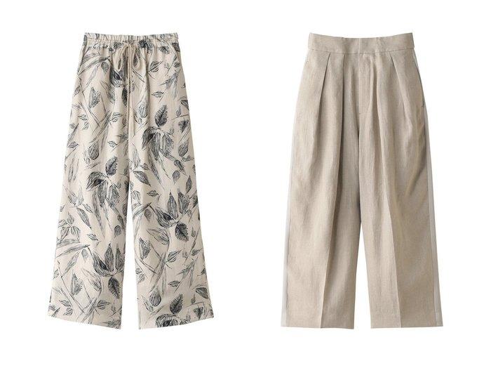 【SACRA/サクラ】のモノフラワーパンツ&リネンツイルパンツ 【パンツ】おすすめ!人気、トレンド・レディースファッションの通販 おすすめファッション通販アイテム レディースファッション・服の通販 founy(ファニー) ファッション Fashion レディースファッション WOMEN パンツ Pants S/S・春夏 SS・Spring/Summer おすすめ Recommend セットアップ フロント リネン 春 Spring キュプラ バランス リラックス リーフ ワイド  ID:crp329100000034901
