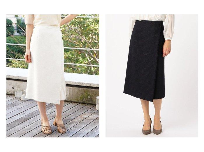 【TOMORROWLAND BALLSEY/トゥモローランド ボールジー】のルレックスツイード アシンメトリースカート 【スカート】おすすめ!人気、トレンド・レディースファッションの通販 おすすめファッション通販アイテム レディースファッション・服の通販 founy(ファニー)  ファッション Fashion レディースファッション WOMEN スカート Skirt Aライン/フレアスカート Flared A-Line Skirts 2020年 2020 2020春夏・S/S SS・Spring/Summer/2020 S/S・春夏 SS・Spring/Summer おすすめ Recommend アシンメトリー ジャケット セットアップ ツイード バランス フレア ミックス ラップ ループ |ID:crp329100000034951