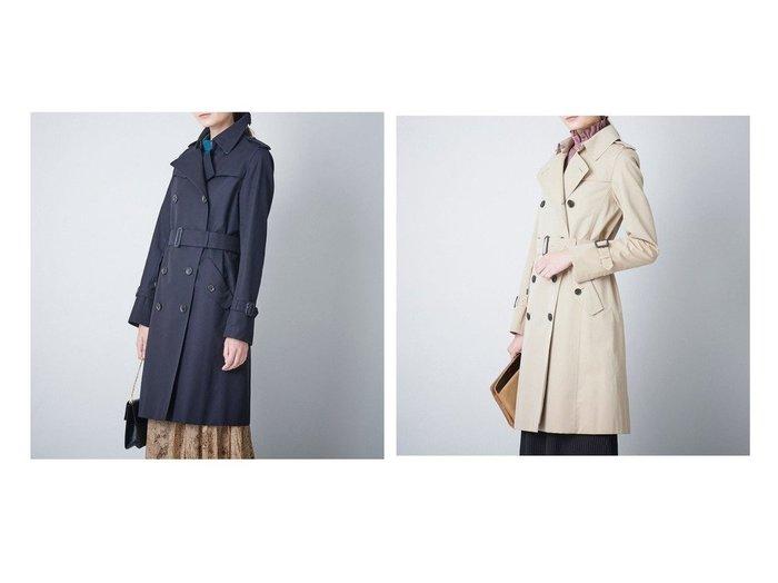 【SANYO COAT/サンヨーコート】のダブルトレンチコート(三陽格子) 【アウター】おすすめ!人気、トレンド・レディースファッションの通販 おすすめファッション通販アイテム インテリア・キッズ・メンズ・レディースファッション・服の通販 founy(ファニー) https://founy.com/ ファッション Fashion レディースファッション WOMEN アウター Coat Outerwear コート Coats トレンチコート Trench Coats エレガント スタンダード ダブル プリーツ ポケット 無地 ライナー 再入荷 Restock/Back in Stock/Re Arrival |ID:crp329100000034992