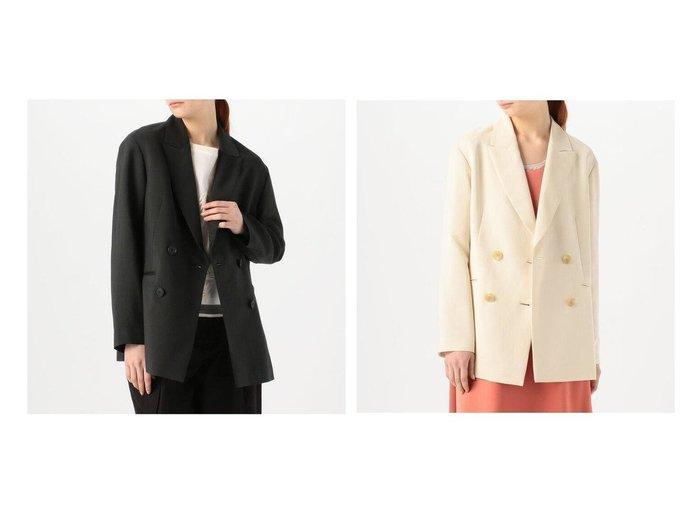 【TOMORROWLAND BALLSEY/トゥモローランド ボールジー】のビスコリーノリネン ダブルブレストジャケット 【アウター】おすすめ!人気、トレンド・レディースファッションの通販 おすすめファッション通販アイテム レディースファッション・服の通販 founy(ファニー) ファッション Fashion レディースファッション WOMEN アウター Coat Outerwear ジャケット Jackets 2021年 2021 2021春夏・S/S SS/Spring/Summer/2021 S/S・春夏 SS・Spring/Summer おすすめ Recommend ジャケット ダブル バランス フォルム マニッシュ リネン ワイド 再入荷 Restock/Back in Stock/Re Arrival |ID:crp329100000034994