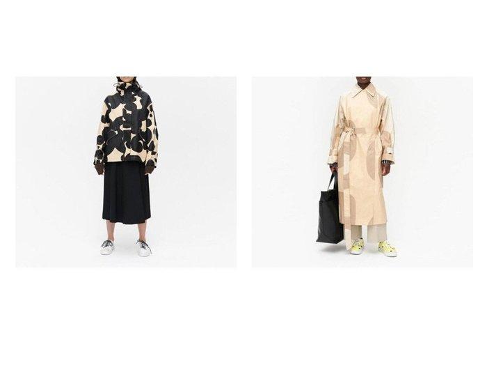 【marimekko/マリメッコ】のKantakulma Seireeni コート&Ollaanko Keidas コート 【アウター】おすすめ!人気、トレンド・レディースファッションの通販 おすすめファッション通販アイテム レディースファッション・服の通販 founy(ファニー)  ファッション Fashion レディースファッション WOMEN アウター Coat Outerwear コート Coats トレンチコート Trench Coats スタイリッシュ パターン フロント ロング ショルダー スリーブ ドロップ ドローコード フラップ ポケット ワイド 今季 |ID:crp329100000034997