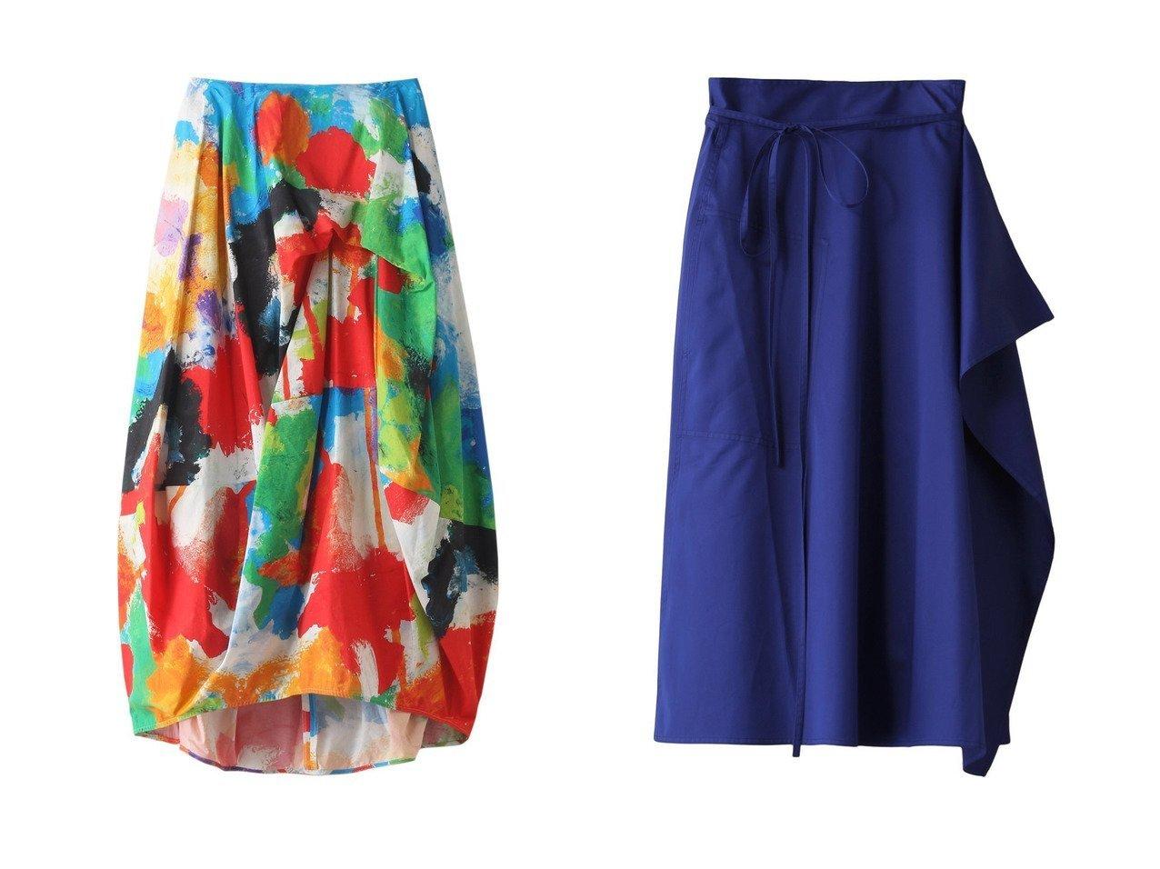 【nagonstans/ナゴンスタンス】のBoiling Sun バルーンスカート&【martinique/マルティニーク】の【SOFIE D HOORE】コットンラップスカート 【スカート】おすすめ!人気、トレンド・レディースファッションの通販 おすすめで人気の流行・トレンド、ファッションの通販商品 メンズファッション・キッズファッション・インテリア・家具・レディースファッション・服の通販 founy(ファニー) https://founy.com/ ファッション Fashion レディースファッション WOMEN スカート Skirt ロングスカート Long Skirt S/S・春夏 SS・Spring/Summer シンプル セットアップ バルーン プリント ランダム ロング 春 Spring |ID:crp329100000035427