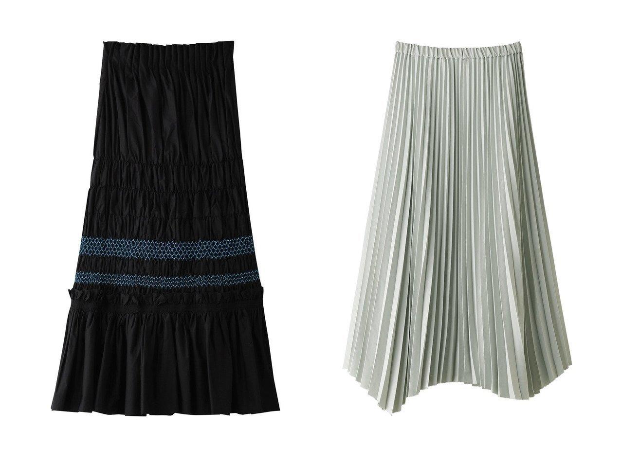【ENFOLD/エンフォルド】のSOMELOS スモッキングスカート&【SACRA/サクラ】のウェーブヘムアコーディオンスカート 【スカート】おすすめ!人気、トレンド・レディースファッションの通販 おすすめで人気の流行・トレンド、ファッションの通販商品 メンズファッション・キッズファッション・インテリア・家具・レディースファッション・服の通販 founy(ファニー) https://founy.com/ ファッション Fashion レディースファッション WOMEN スカート Skirt ロングスカート Long Skirt おすすめ Recommend スモッキング セットアップ ターコイズ ロング |ID:crp329100000035431