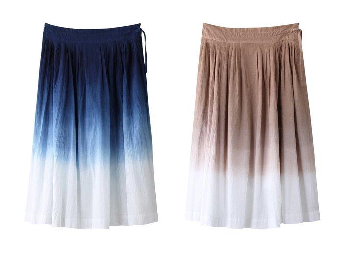 【MARILYN MOON/マリリンムーン】の【WALANCE】【草木染め】グラデーションダイフレアスカート 【スカート】おすすめ!人気、トレンド・レディースファッションの通販 おすすめファッション通販アイテム レディースファッション・服の通販 founy(ファニー) ファッション Fashion レディースファッション WOMEN スカート Skirt Aライン/フレアスカート Flared A-Line Skirts ロングスカート Long Skirt インディゴ グラデーション シンプル フレア ポケット ロング おすすめ Recommend  ID:crp329100000035433