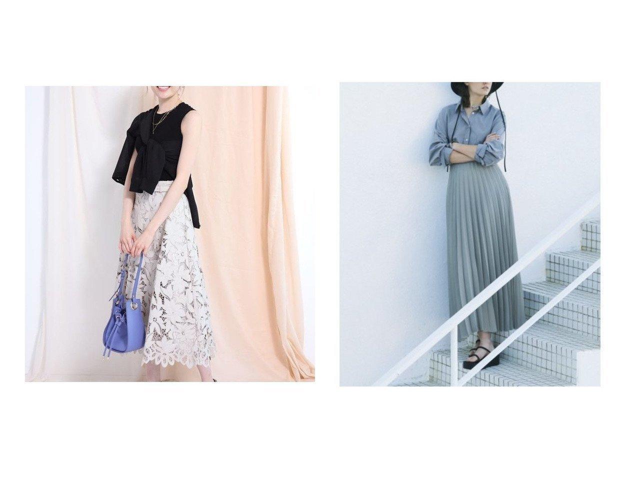 【Mila Owen/ミラオーウェン】のウエストコード太幅プリーツスカート&【Apuweiser-riche/アプワイザーリッシェ】のカットワークロングフレアスカート 【スカート】おすすめ!人気、トレンド・レディースファッションの通販 おすすめで人気の流行・トレンド、ファッションの通販商品 メンズファッション・キッズファッション・インテリア・家具・レディースファッション・服の通販 founy(ファニー) https://founy.com/ ファッション Fashion レディースファッション WOMEN スカート Skirt Aライン/フレアスカート Flared A-Line Skirts プリーツスカート Pleated Skirts エレガント ギャザー フレア モチーフ ロング S/S・春夏 SS・Spring/Summer スマート プリーツ リラックス 今季 定番 Standard 春 Spring |ID:crp329100000035434