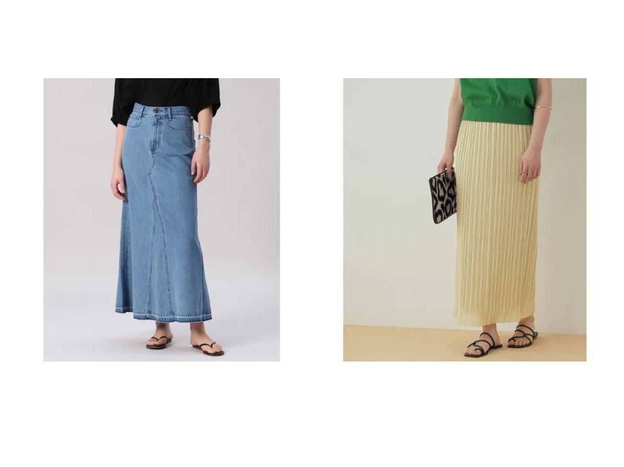 【ADAM ET ROPE'/アダム エ ロペ】の【セットアップ対応】ダブルリネンライクプリーツスカート&【INED/イネド】の《Maison de Beige》デニムロングスカート 【スカート】おすすめ!人気、トレンド・レディースファッションの通販 おすすめで人気の流行・トレンド、ファッションの通販商品 メンズファッション・キッズファッション・インテリア・家具・レディースファッション・服の通販 founy(ファニー) https://founy.com/ ファッション Fashion レディースファッション WOMEN セットアップ Setup スカート Skirt スカート Skirt プリーツスカート Pleated Skirts ロングスカート Long Skirt イエロー 春 Spring カットソー セットアップ ダブル フリンジ プリーツ ペチコート ポケット 別注 マキシ リラックス ロング 2021年 2021 S/S・春夏 SS・Spring/Summer 2021春夏・S/S SS/Spring/Summer/2021 おすすめ Recommend デニム リメイク |ID:crp329100000035444