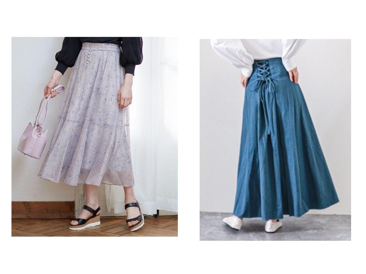 【archives/アルシーヴ】のデニムバックレースアップマキシスカート&【Feroux/フェルゥ】の【洗える】シャイニーチューリッププリント スカート 【スカート】おすすめ!人気、トレンド・レディースファッションの通販 おすすめで人気の流行・トレンド、ファッションの通販商品 メンズファッション・キッズファッション・インテリア・家具・レディースファッション・服の通販 founy(ファニー) https://founy.com/ ファッション Fashion レディースファッション WOMEN スカート Skirt ロングスカート Long Skirt おすすめ Recommend シンプル フレア ロング シアー トレンド フロント 春 Spring 洗える |ID:crp329100000035448