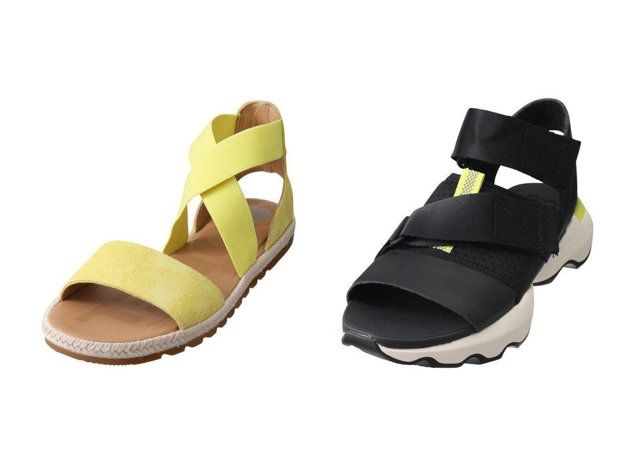 【SOREL/ソレル】のキネティックインパクトサンダル&エラII サンダル 【シューズ・靴】おすすめ!人気、トレンド・レディースファッションの通販 おすすめで人気の流行・トレンド、ファッションの通販商品 メンズファッション・キッズファッション・インテリア・家具・レディースファッション・服の通販 founy(ファニー) https://founy.com/ ファッション Fashion レディースファッション WOMEN サンダル スポーツ トレンド 人気 今季 クッション ジュート ソックス 定番 Standard |ID:crp329100000035464