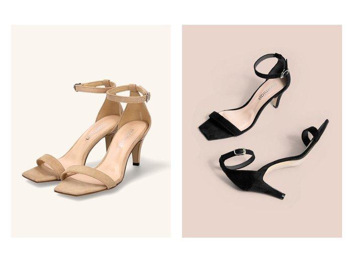 【MAMIAN/マミアン】のスクエアトゥシンプルストラップサンダル 【シューズ・靴】おすすめ!人気、トレンド・レディースファッションの通販 おすすめ人気トレンドファッション通販アイテム 人気、トレンドファッション・服の通販 founy(ファニー)  ファッション Fashion レディースファッション WOMEN クッション サンダル シューズ シンプル スエード フィット ミュール |ID:crp329100000035480
