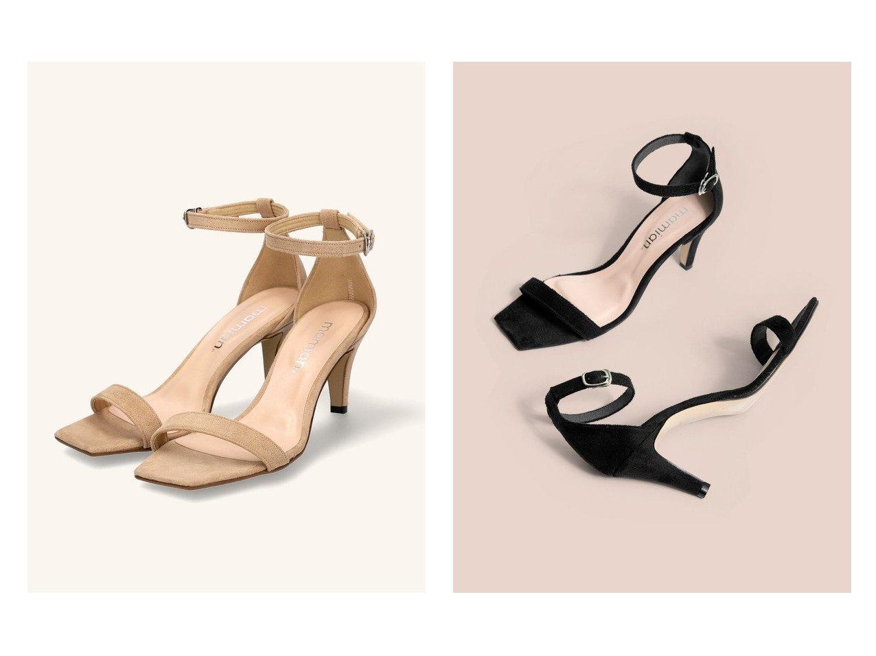 【MAMIAN/マミアン】のスクエアトゥシンプルストラップサンダル 【シューズ・靴】おすすめ!人気、トレンド・レディースファッションの通販 おすすめで人気の流行・トレンド、ファッションの通販商品 メンズファッション・キッズファッション・インテリア・家具・レディースファッション・服の通販 founy(ファニー) https://founy.com/ ファッション Fashion レディースファッション WOMEN クッション サンダル シューズ シンプル スエード フィット ミュール |ID:crp329100000035480