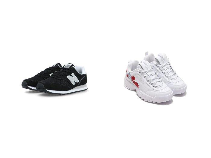 【FILA/フィラ】のFILA Disruptor II Flower&【new balance/ニューバランス】のNB ML373 【シューズ・靴】おすすめ!人気、トレンド・レディースファッションの通販 おすすめファッション通販アイテム レディースファッション・服の通販 founy(ファニー) ファッション Fashion レディースファッション WOMEN シューズ スニーカー スリッポン NEW・新作・新着・新入荷 New Arrivals バランス ベーシック ランニング |ID:crp329100000035486