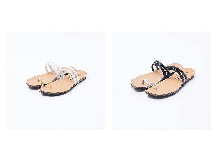 【Rouge vif la cle/ルージュヴィフラクレ】の【PLAKTON】トングサンダル 【シューズ・靴】おすすめ!人気、トレンド・レディースファッションの通販 おすすめファッション通販アイテム レディースファッション・服の通販 founy(ファニー) ファッション Fashion レディースファッション WOMEN サンダル シューズ フラット ミュール |ID:crp329100000035489
