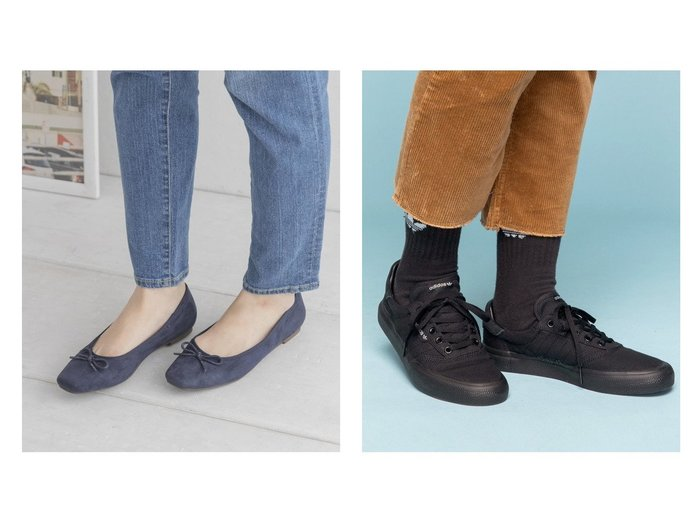 【adidas Originals/アディダス オリジナルス】のスリーエムシー 3MC アディダス スケートボーディング&【Sonny Label / URBAN RESEARCH/サニーレーベル】のコンフォートスェードバレエシューズ 【シューズ・靴】おすすめ!人気、トレンド・レディースファッションの通販 おすすめファッション通販アイテム レディースファッション・服の通販 founy(ファニー) ファッション Fashion レディースファッション WOMEN クラシック シューズ スニーカー スリッポン パッチ フィット ライニング レギュラー 軽量 バレエ ベーシック リボン |ID:crp329100000035490