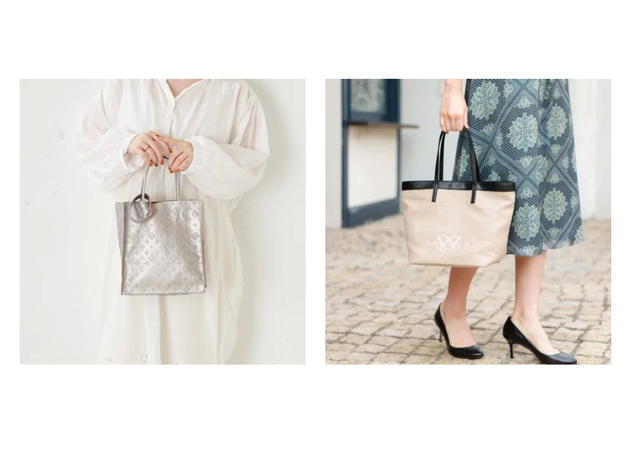 【AMACA/アマカ】のロゴバッグ&【Daily russet/デイリー ラシット】の【超軽量な140g】フェイクレザー エンボス縦長トートバッグ(S) 【バッグ・鞄】おすすめ!人気、トレンド・レディースファッションの通販 おすすめで人気の流行・トレンド、ファッションの通販商品 メンズファッション・キッズファッション・インテリア・家具・レディースファッション・服の通販 founy(ファニー) https://founy.com/ ファッション Fashion レディースファッション WOMEN バッグ Bag コンパクト シンプル ハンドバッグ フェイクレザー プチプライス・低価格 Affordable ポケット 軽量 ジュート プリント 日本製 Made in Japan  ID:crp329100000035510