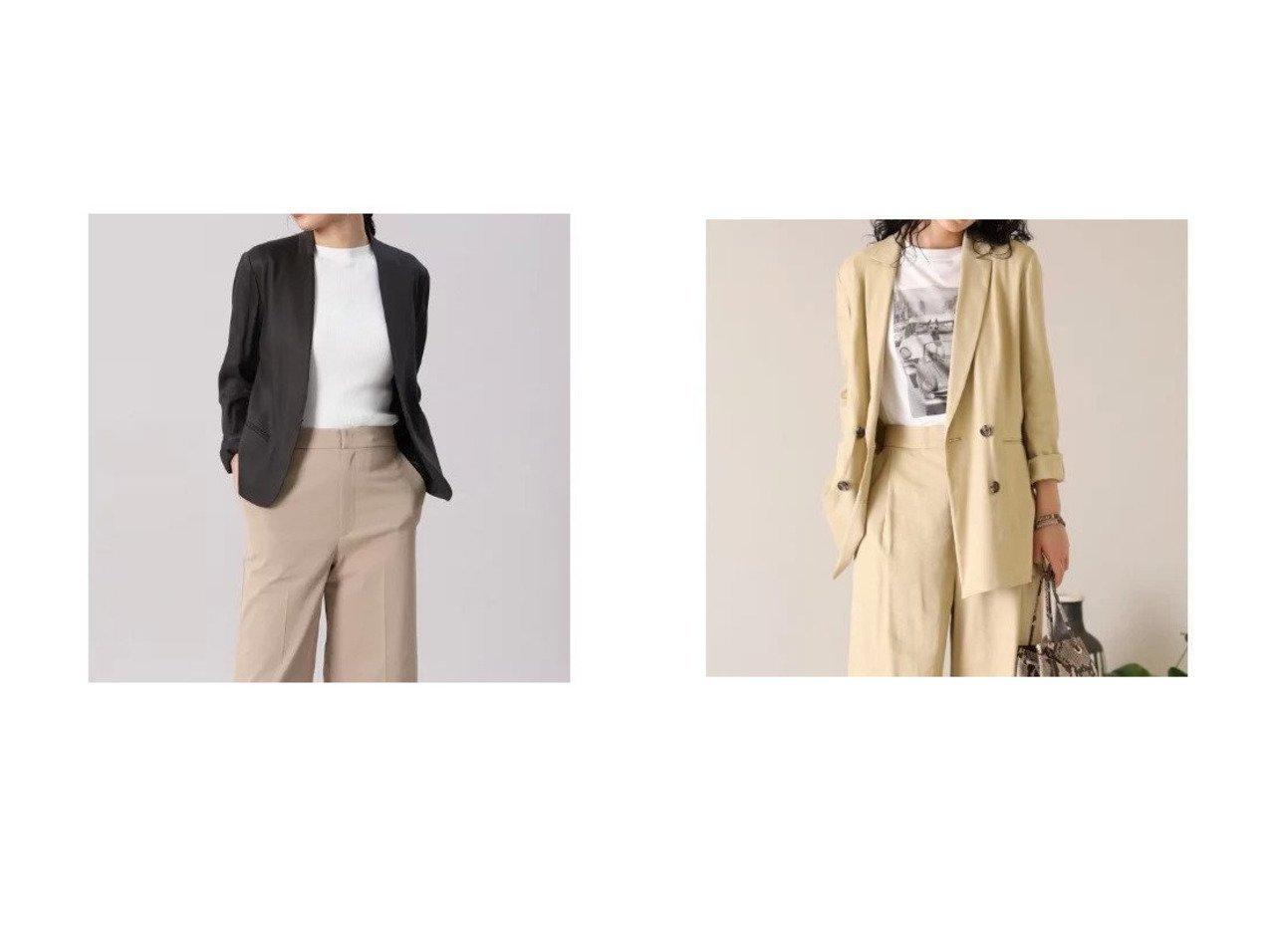 【INED/イネド】のダブルブレストジャケット《PONTETORTO》&カラーレスジャケット《PONTETORTO》 【アウター】おすすめ!人気、トレンド・レディースファッションの通販 おすすめで人気の流行・トレンド、ファッションの通販商品 メンズファッション・キッズファッション・インテリア・家具・レディースファッション・服の通販 founy(ファニー) https://founy.com/ ファッション Fashion レディースファッション WOMEN アウター Coat Outerwear ジャケット Jackets おすすめ Recommend イタリア ウォーター カーディガン ショート ポケット モダン ワイド クラシカル ジャケット ストレッチ セットアップ ダブル バランス リラックス  ID:crp329100000035528