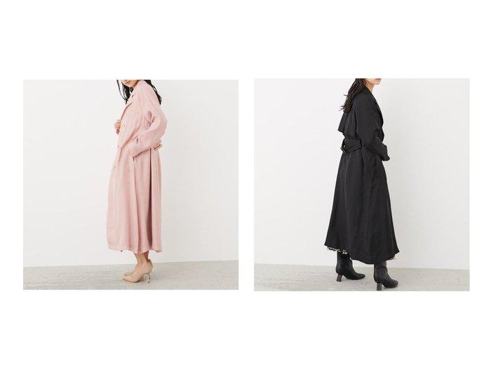 【rienda/リエンダ】のオーガンジートレンチCT 【アウター】おすすめ!人気、トレンド・レディースファッションの通販 おすすめファッション通販アイテム インテリア・キッズ・メンズ・レディースファッション・服の通販 founy(ファニー) https://founy.com/ ファッション Fashion レディースファッション WOMEN アウター Coat Outerwear 2021年 2021 2021春夏・S/S SS/Spring/Summer/2021 S/S・春夏 SS・Spring/Summer オーガンジー トレンチ 春 Spring 羽織 |ID:crp329100000035531