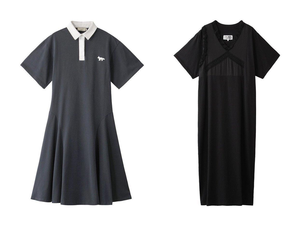 【MAISON KITSUNE/メゾン キツネ】のドレス・ワンピース&【MM6 Maison Martin Margiela/エムエム6 メゾン マルタン マルジェラ】のベーシックジャージーレース切替ワンピース 【ワンピース・ドレス】おすすめ!人気、トレンド・レディースファッションの通販 おすすめで人気の流行・トレンド、ファッションの通販商品 メンズファッション・キッズファッション・インテリア・家具・レディースファッション・服の通販 founy(ファニー) https://founy.com/ ファッション Fashion レディースファッション WOMEN ワンピース Dress ドレス Party Dresses スニーカー スポーティ スリーブ ドレス パッチ フィット フォックス フレア リラックス ワイド レース ロング 切替  ID:crp329100000035538