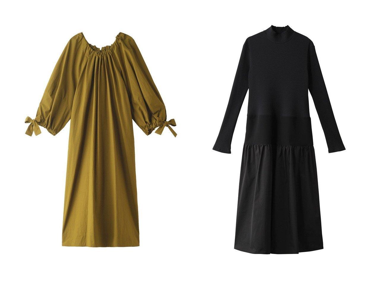 【nagonstans/ナゴンスタンス】のWashedタイプライター スモックドレス&【LE CIEL BLEU/ルシェル ブルー】のコンストラクティングファブリックドレス 【ワンピース・ドレス】おすすめ!人気、トレンド・レディースファッションの通販 おすすめで人気の流行・トレンド、ファッションの通販商品 メンズファッション・キッズファッション・インテリア・家具・レディースファッション・服の通販 founy(ファニー) https://founy.com/ ファッション Fashion レディースファッション WOMEN ワンピース Dress ドレス Party Dresses スモック タイプライター ドレス リボン ロング A/W・秋冬 AW・Autumn/Winter・FW・Fall-Winter エレガント シンプル スリム パターン パーティ  ID:crp329100000035545