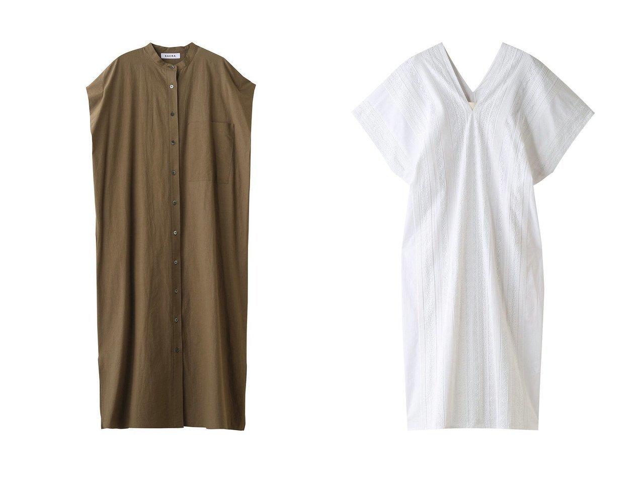 【Pheeta/フィータ】のKate コットンレースタックVネックドレス&【SACRA/サクラ】のウォッシュドタイプライターワンピース 【ワンピース・ドレス】おすすめ!人気、トレンド・レディースファッションの通販 おすすめで人気の流行・トレンド、ファッションの通販商品 メンズファッション・キッズファッション・インテリア・家具・レディースファッション・服の通販 founy(ファニー) https://founy.com/ ファッション Fashion レディースファッション WOMEN ワンピース Dress ドレス Party Dresses スリーブ タイプライター ロング ワッシャー S/S・春夏 SS・Spring/Summer インド ドレス フォルム レース 春 Spring  ID:crp329100000035550