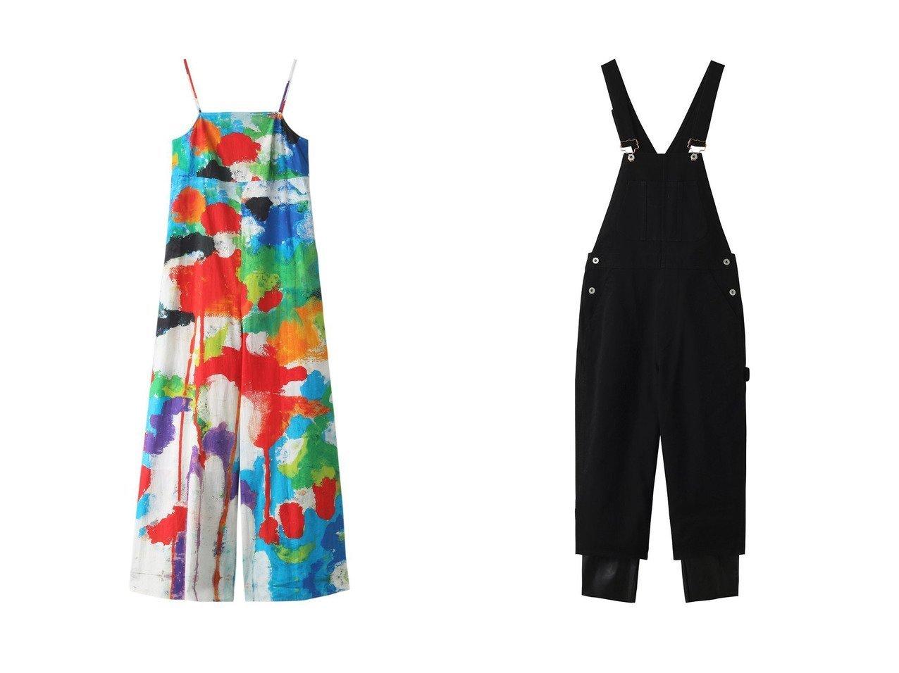【nagonstans/ナゴンスタンス】のレイヤード オーバーオール R-05&Boiling Sun キャミフレアオールインワン 【ワンピース・ドレス】おすすめ!人気、トレンド・レディースファッションの通販 おすすめで人気の流行・トレンド、ファッションの通販商品 メンズファッション・キッズファッション・インテリア・家具・レディースファッション・服の通販 founy(ファニー) https://founy.com/ ファッション Fashion レディースファッション WOMEN パンツ Pants エレガント キャミソール フレア プリント ボトム 今季 トレンド ベーシック ロング  ID:crp329100000035559