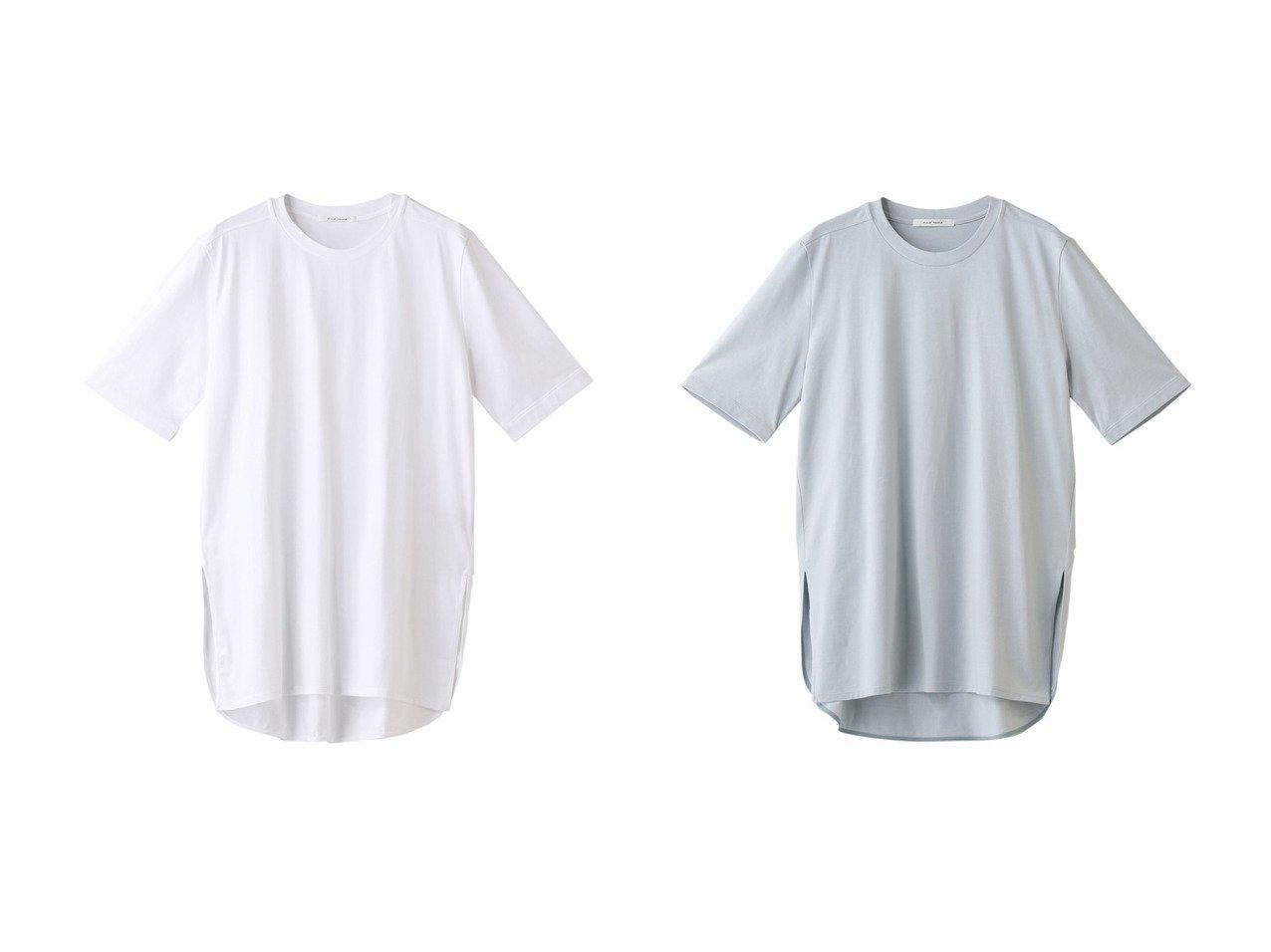 【PLAIN PEOPLE/プレインピープル】のスピンコットンTシャツ 【トップス・カットソー】おすすめ!人気、トレンド・レディースファッションの通販 おすすめで人気の流行・トレンド、ファッションの通販商品 メンズファッション・キッズファッション・インテリア・家具・レディースファッション・服の通販 founy(ファニー) https://founy.com/ ファッション Fashion レディースファッション WOMEN トップス・カットソー Tops/Tshirt シャツ/ブラウス Shirts/Blouses ロング / Tシャツ T-Shirts カットソー Cut and Sewn ショート シンプル スリーブ ベーシック ロング |ID:crp329100000035580