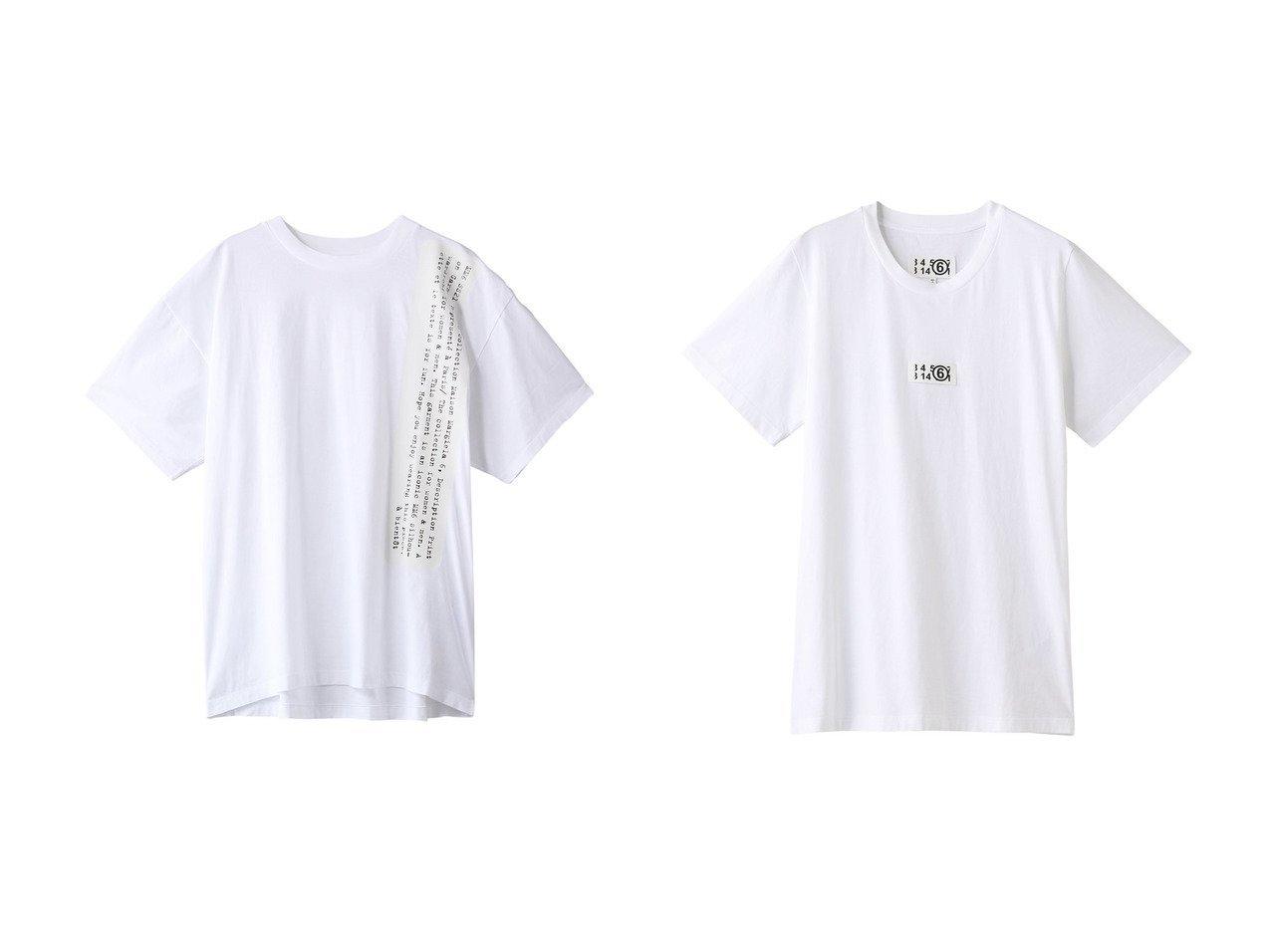 【MM6 Maison Martin Margiela/エムエム6 メゾン マルタン マルジェラ】のベーシックジャージープリントTシャツ&ベーシックジャージータグデザインTシャツ 【トップス・カットソー】おすすめ!人気、トレンド・レディースファッションの通販 おすすめで人気の流行・トレンド、ファッションの通販商品 メンズファッション・キッズファッション・インテリア・家具・レディースファッション・服の通販 founy(ファニー) https://founy.com/ ファッション Fashion レディースファッション WOMEN トップス・カットソー Tops/Tshirt シャツ/ブラウス Shirts/Blouses ロング / Tシャツ T-Shirts カットソー Cut and Sewn なめらか ショルダー ショート スリーブ トレンド プリント シンプル フロント |ID:crp329100000035585