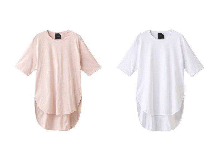【ATON/エイトン】の2 ラウンドヘムTシャツ 【トップス・カットソー】おすすめ!人気、トレンド・レディースファッションの通販 おすすめ人気トレンドファッション通販アイテム 人気、トレンドファッション・服の通販 founy(ファニー) ファッション Fashion レディースファッション WOMEN トップス・カットソー Tops/Tshirt シャツ/ブラウス Shirts/Blouses ロング / Tシャツ T-Shirts カットソー Cut and Sewn ショート シンプル スリーブ 今季 定番 Standard |ID:crp329100000035589