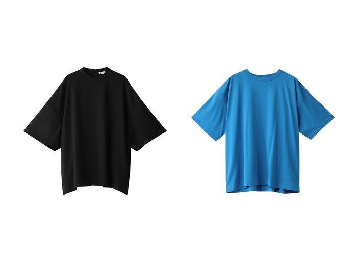 【ENFOLD/エンフォルド】のコンパクト天竺 ルーズTシャツ&Comfortable Twill BIG Tシャツ 【トップス・カットソー】おすすめ!人気、トレンド・レディースファッションの通販 おすすめファッション通販アイテム レディースファッション・服の通販 founy(ファニー)  ファッション Fashion レディースファッション WOMEN トップス・カットソー Tops/Tshirt シャツ/ブラウス Shirts/Blouses ロング / Tシャツ T-Shirts カットソー Cut and Sewn S/S・春夏 SS・Spring/Summer おすすめ Recommend ショート スリーブ スーツ セットアップ ビッグ 春 Spring |ID:crp329100000035596