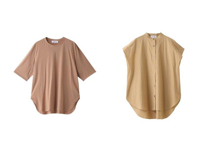 【SACRA/サクラ】のウォッシュドタイプライターブラウス&マイクロファインコットンTシャツ 【トップス・カットソー】おすすめ!人気、トレンド・レディースファッションの通販 おすすめ人気トレンドファッション通販アイテム 人気、トレンドファッション・服の通販 founy(ファニー) ファッション Fashion レディースファッション WOMEN トップス・カットソー Tops/Tshirt シャツ/ブラウス Shirts/Blouses ロング / Tシャツ T-Shirts カットソー Cut and Sewn ショート スリーブ タイプライター ワッシャー |ID:crp329100000035599