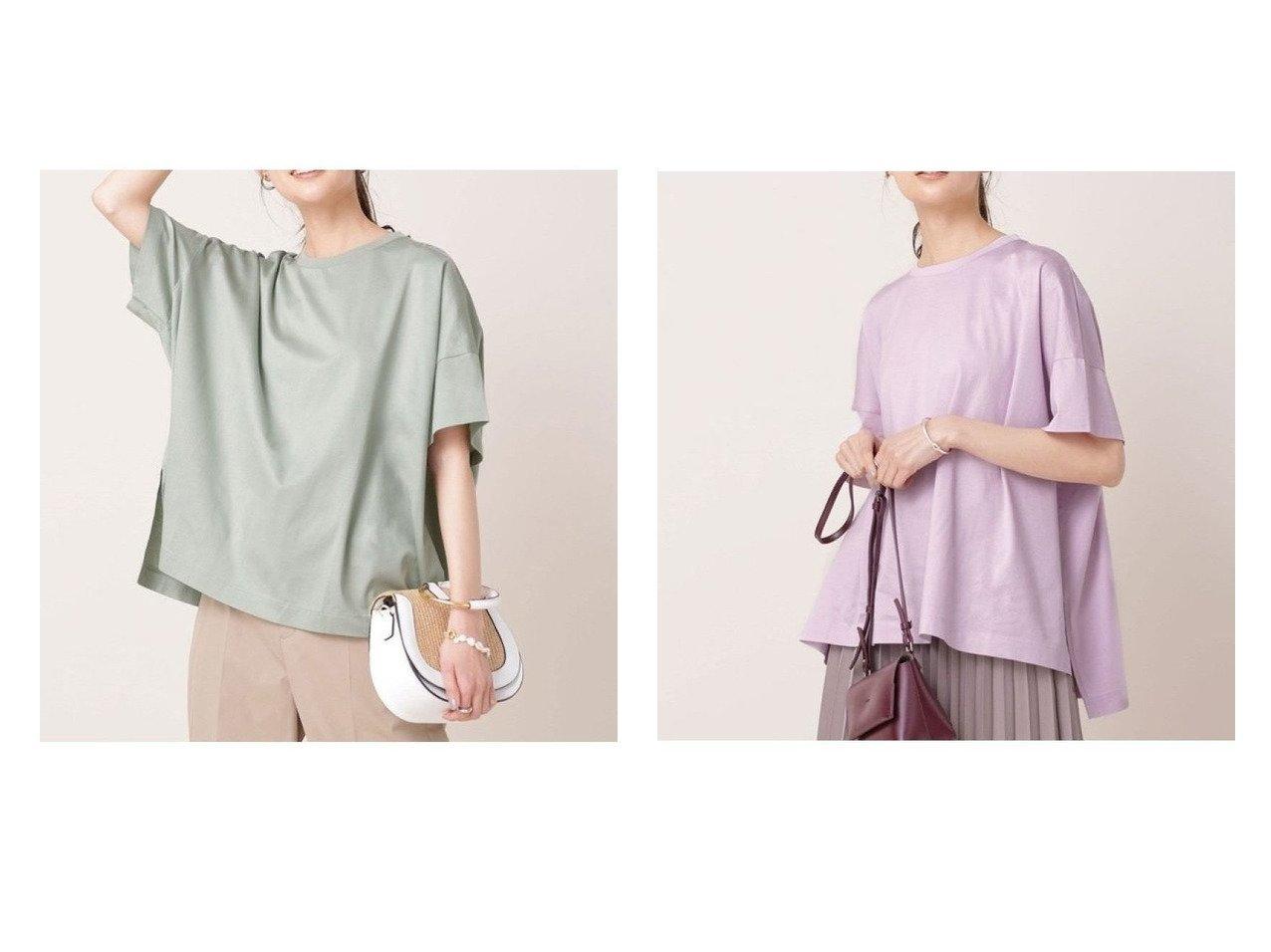 【nano universe/ナノ ユニバース】のビューティークチュール 防汚 オーバーTシャツ 半袖 【トップス・カットソー】おすすめ!人気、トレンド・レディースファッションの通販 おすすめで人気の流行・トレンド、ファッションの通販商品 メンズファッション・キッズファッション・インテリア・家具・レディースファッション・服の通販 founy(ファニー) https://founy.com/ ファッション Fashion レディースファッション WOMEN トップス・カットソー Tops/Tshirt シャツ/ブラウス Shirts/Blouses ロング / Tシャツ T-Shirts カットソー Cut and Sewn カットソー シルケット センター デニム ノースリーブ 長袖 バランス パターン フォルム ベーシック ボトム 半袖 ラウンド リラックス ワイド NEW・新作・新着・新入荷 New Arrivals おすすめ Recommend |ID:crp329100000035641