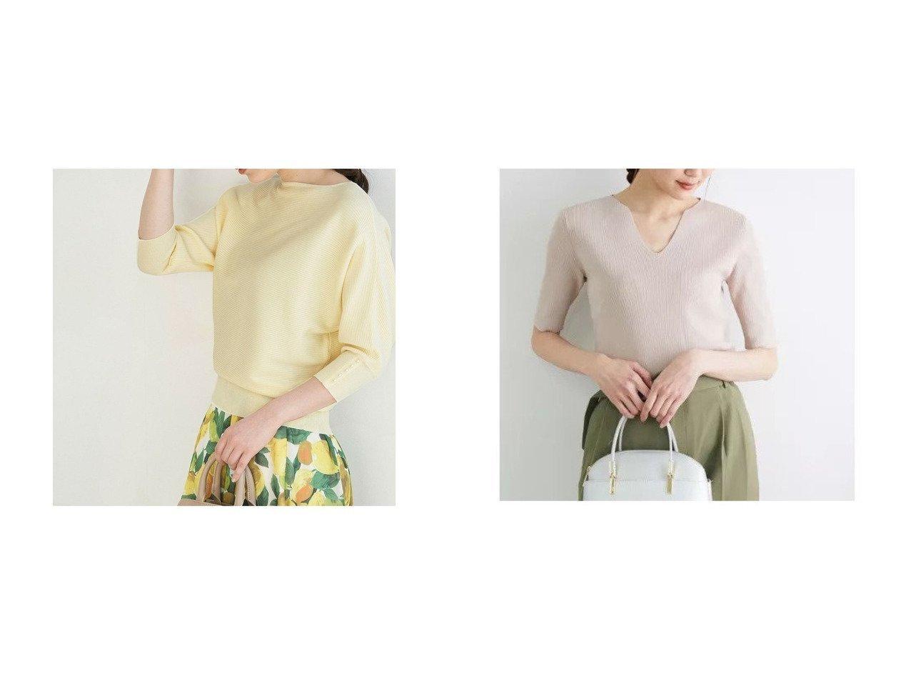 【ROPE' PICNIC/ロペピクニック】の【WEB限定】袖パールドルマントップス&スリットネックニットプルオーバー 【プチプライス】おすすめ!人気トレンド・ファッション通販 おすすめで人気の流行・トレンド、ファッションの通販商品 メンズファッション・キッズファッション・インテリア・家具・レディースファッション・服の通販 founy(ファニー) https://founy.com/ ファッション Fashion レディースファッション WOMEN トップス・カットソー Tops/Tshirt ニット Knit Tops プルオーバー Pullover NEW・新作・新着・新入荷 New Arrivals おすすめ Recommend エレガント シンプル ジーンズ パステル パール 春 Spring 秋 Autumn/Fall インナー カーディガン セットアップ セーター  ID:crp329100000035651