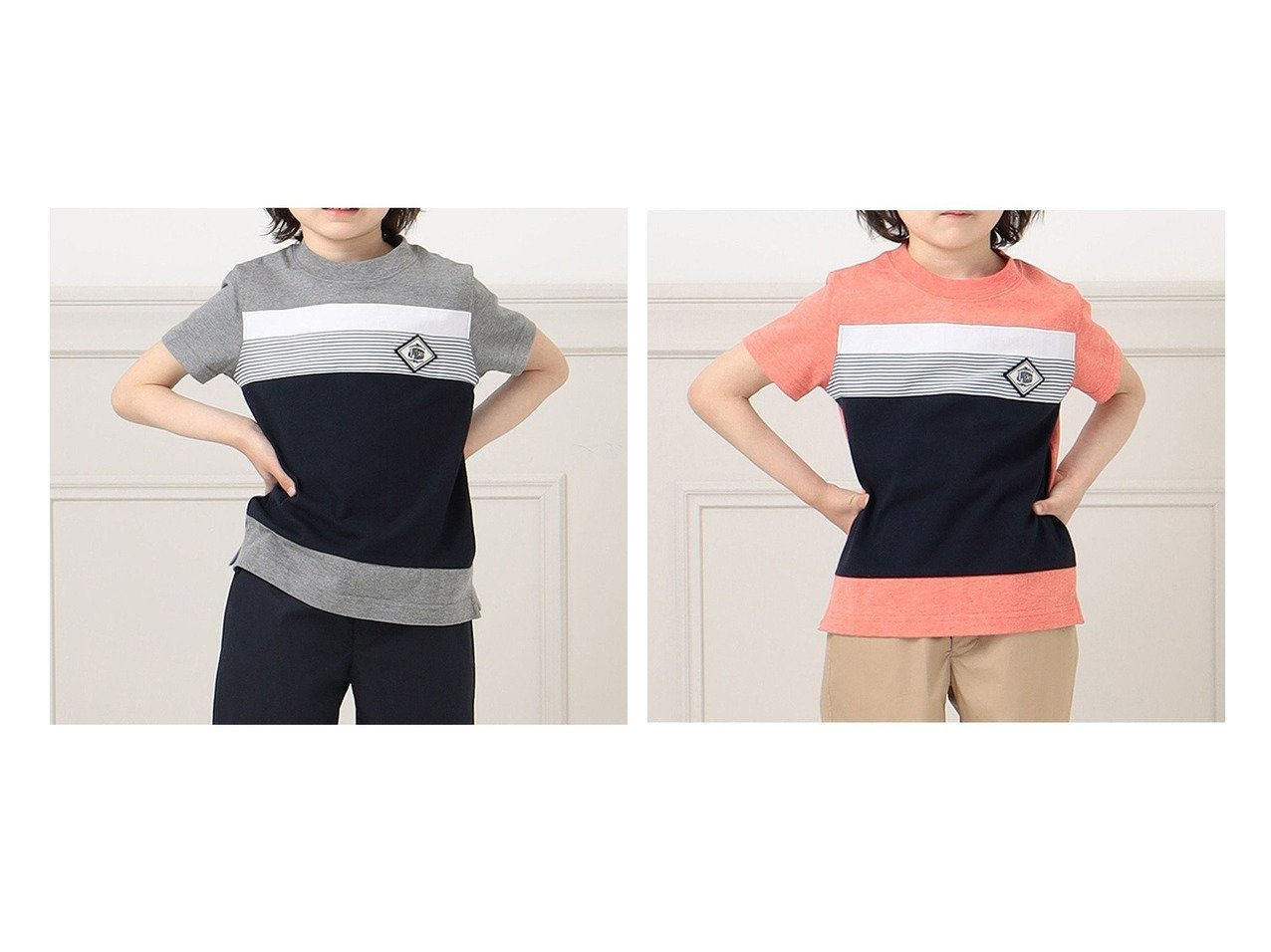 【J.PRESS / KIDS/ジェイ プレス】の【110-130cm】2天竺ブロッキングTシャツ 【KIDS】子供服のおすすめ!人気トレンド・キッズファッションの通販 おすすめで人気の流行・トレンド、ファッションの通販商品 メンズファッション・キッズファッション・インテリア・家具・レディースファッション・服の通販 founy(ファニー) https://founy.com/ ファッション Fashion キッズファッション KIDS トップス・カットソー Tops/Tees/Kids 送料無料 Free Shipping カットソー ブロッキング 洗える  ID:crp329100000035748