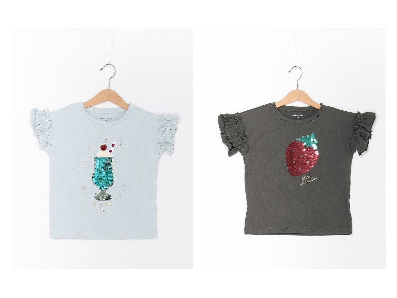 【GLOBAL WORK / KIDS/グローバルワーク】のGirlsモチーフTSS 【KIDS】子供服のおすすめ!人気トレンド・キッズファッションの通販 おすすめで人気の流行・トレンド、ファッションの通販商品 メンズファッション・キッズファッション・インテリア・家具・レディースファッション・服の通販 founy(ファニー) https://founy.com/ ファッション Fashion キッズファッション KIDS トップス・カットソー Tops/Tees/Kids カットソー グラフィック フリル モチーフ 人気  ID:crp329100000035755
