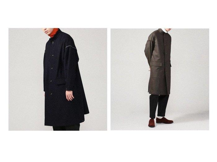【TOMORROWLAND / MEN/トゥモローランド】のメランジフランネル スタンドカラーコート 【MEN】おすすめ!人気トレンド・男性、メンズファッションの通販  おすすめ人気トレンドファッション通販アイテム 人気、トレンドファッション・服の通販 founy(ファニー)  ファッション Fashion メンズファッション MEN アウター Coats Outerwear/Men 2020年 2020 2020-2021秋冬・A/W AW・Autumn/Winter・FW・Fall-Winter/2020-2021 A/W・秋冬 AW・Autumn/Winter・FW・Fall-Winter おすすめ Recommend インナー ウォーム シンプル スタンド ビッグ ミリタリー メランジ モチーフ 日本製 Made in Japan 防寒 |ID:crp329100000035761