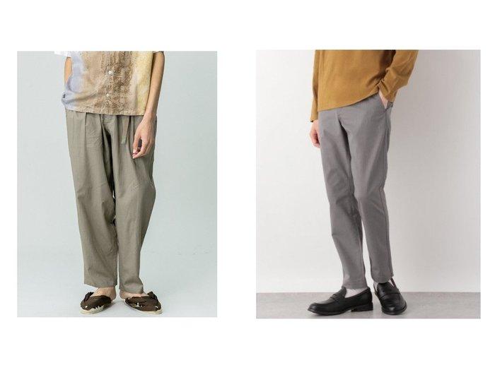 【GLOBAL WORK / MEN/グローバルワーク】のSTYLE UP CHINO&【Bshop / MEN/ビショップ】の【GRAMICCI】 別注 リネンワイドテーパードパンツ MEN 【MEN】おすすめ!人気トレンド・男性、メンズファッションの通販  おすすめファッション通販アイテム レディースファッション・服の通販 founy(ファニー) ファッション Fashion メンズファッション MEN ボトムス Bottoms/Men ジーンズ フロント リネン 別注 定番 Standard おすすめ Recommend シンプル ストレート パターン ブルゾン ヘリンボーン モチーフ ワーク ヴィンテージ |ID:crp329100000035777