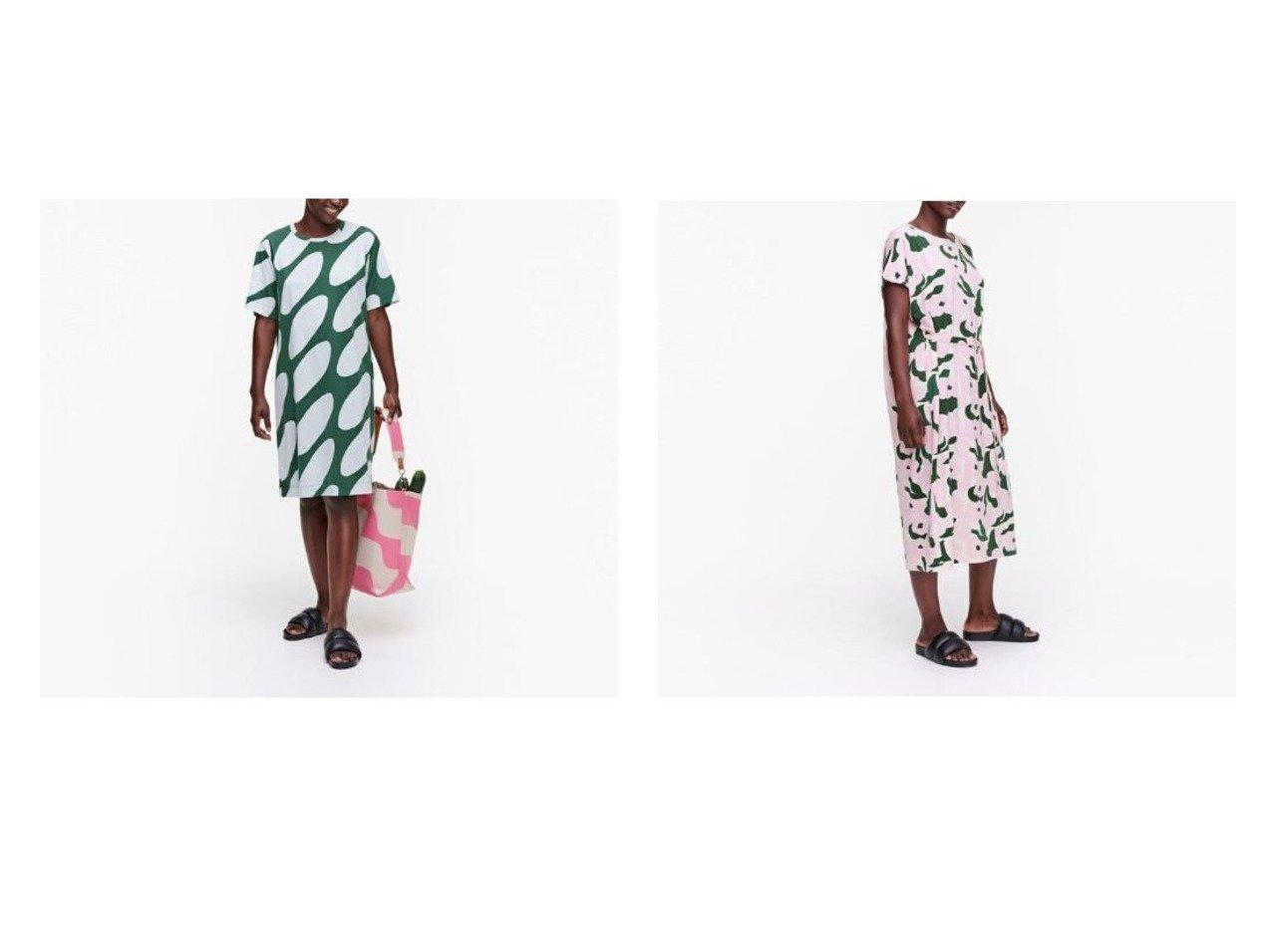【marimekko/マリメッコ】のKevainen Linssi ワンピース&Kankahal Penkka ワンピース おすすめ!人気、トレンド・レディースファッションの通販 おすすめで人気の流行・トレンド、ファッションの通販商品 メンズファッション・キッズファッション・インテリア・家具・レディースファッション・服の通販 founy(ファニー) https://founy.com/ ファッション Fashion レディースファッション WOMEN ワンピース Dress S/S・春夏 SS・Spring/Summer コンビ フロント プリント ワンポイント 春 Spring スリーブ ハーフ リラックス |ID:crp329100000035901