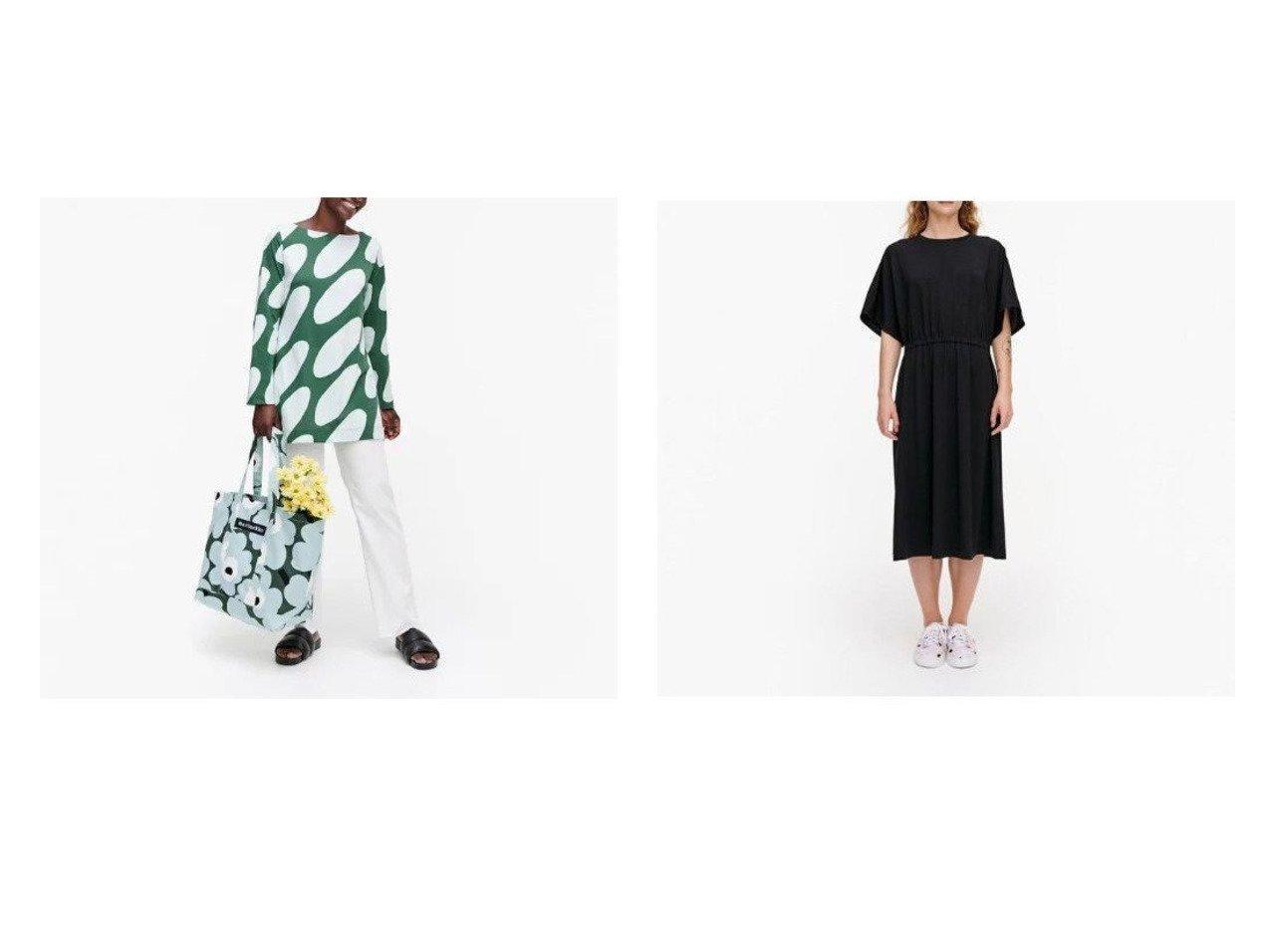【marimekko/マリメッコ】のIkkunani ワンピース&Juurilla Linssi チュニック おすすめ!人気、トレンド・レディースファッションの通販 おすすめで人気の流行・トレンド、ファッションの通販商品 メンズファッション・キッズファッション・インテリア・家具・レディースファッション・服の通販 founy(ファニー) https://founy.com/ ファッション Fashion レディースファッション WOMEN トップス・カットソー Tops/Tshirt ワンピース Dress チュニック プリント ギャザー スリーブ |ID:crp329100000035903